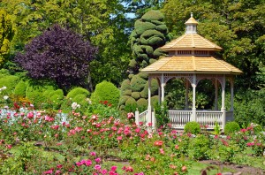 Spring rose garden gazebo