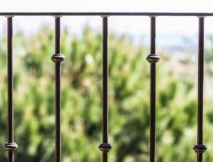 Black metal railing