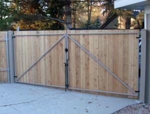 wooden gates metal hardware
