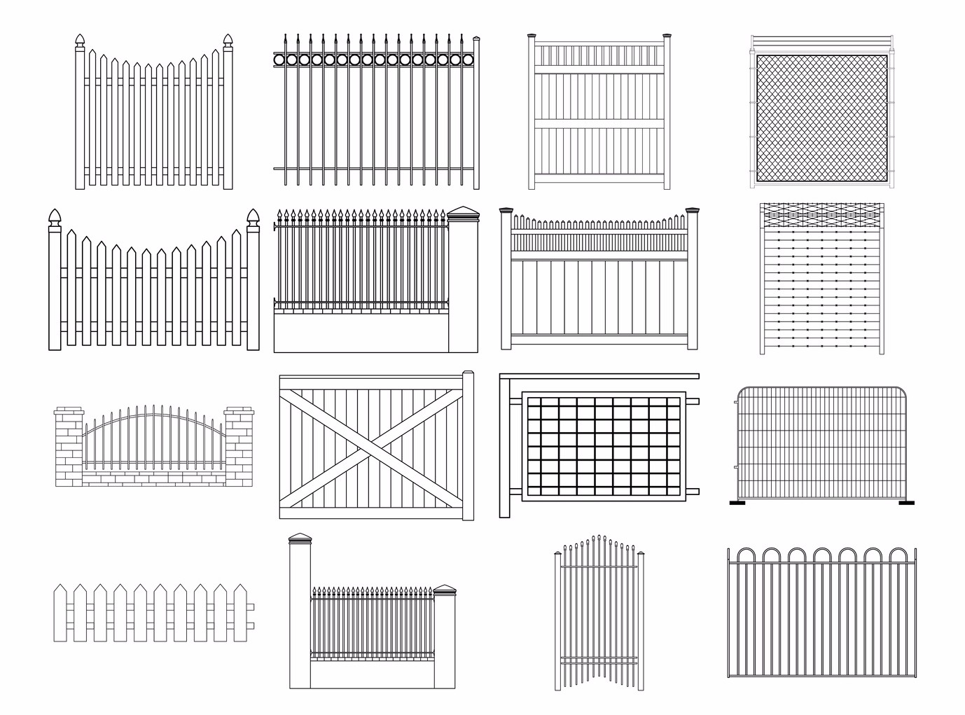 Different Fence Styles